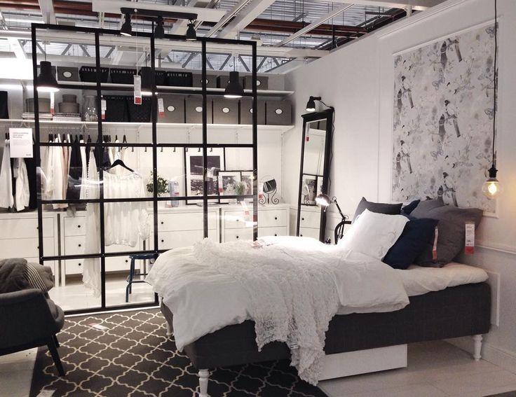 Ett av våra sovrum. Med snygg rumsavdelare. Vad tycker ni? #ikea #ikeabarkarby #inspo #inspiration #interior #inredning #rumsavdelare