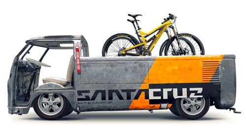 "$6000 doesn't come with that sick van. 29"" Blurs from @Santa Cruz Bikes (the second best bike co. )"