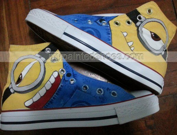 minion shoes minion sneakers minions sneakers painted shoes