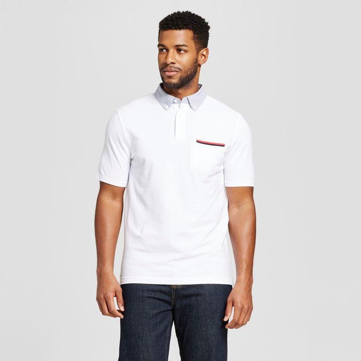 Men's Club Polo Shirt White Xxl - Merona