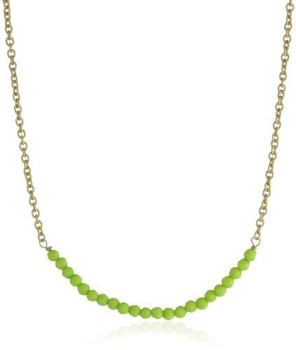 Flying Lizard Designs Gold Chain with Lime Beads Necklace Flying Lizard Designs. $28.05. Made in China. Items that are handmade may vary in size, shape and color