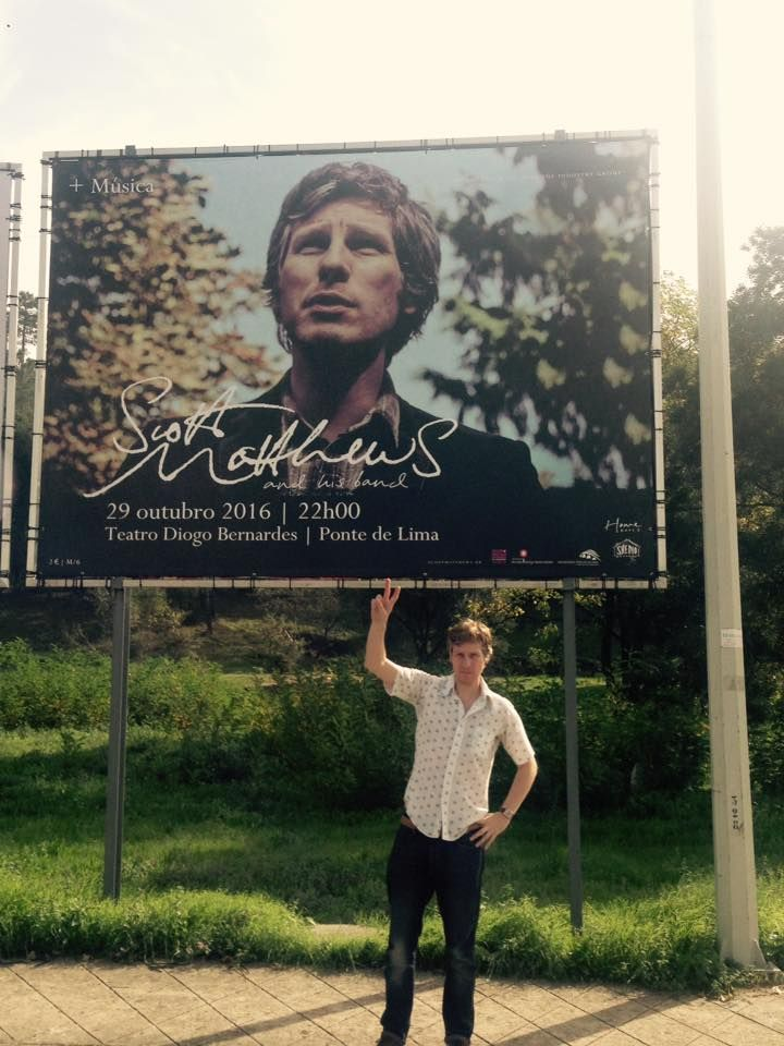 Scott Matthews Huge poster banner in Portugal