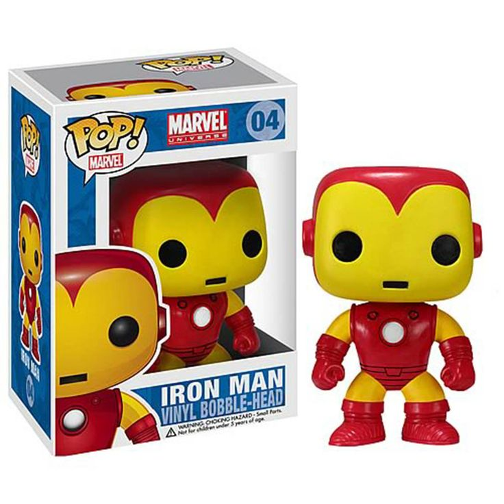 Marvel POP Classic Iron Man Bobble Head Vinyl Figure