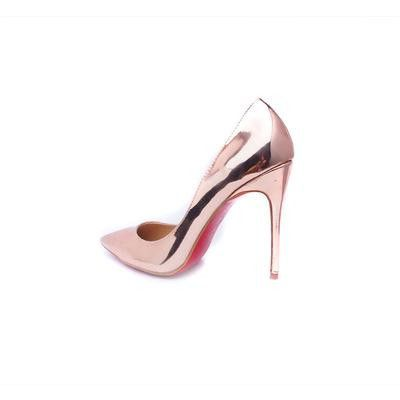 Black 10cm Sexy Thin High Heels Red Bottoms Nude Women Pumps For Girl Ladies Party Wedding Formal Work Casual Walking Shoes 2016
