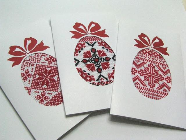 Необычные Обычные Вещи Пасхальные открытки  kreuzstich