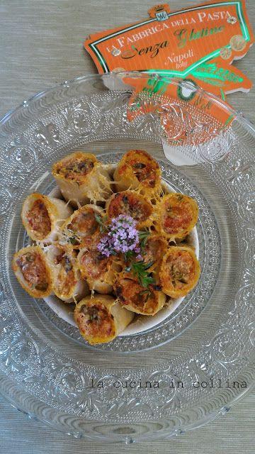 la cucina in collina: paccheri ricotta melanzane olive