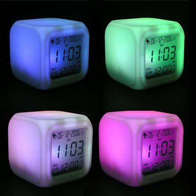 Color-changing LCD Clock