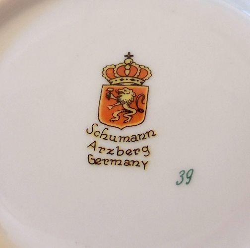 Image result for schumann arzberg germany marks   Vintage