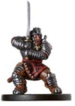 D&D Miniature Deathknell 06/60 Dwarf Samurai R