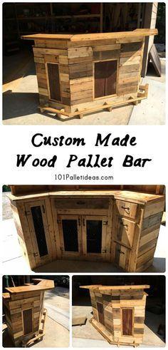Custom Made Wood Pallet Bar   101 Pallet Ideas