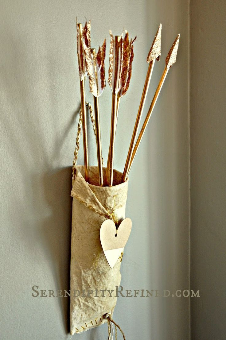 Tutorial Gold Arrows In A Rustic Quiver For Valentine S