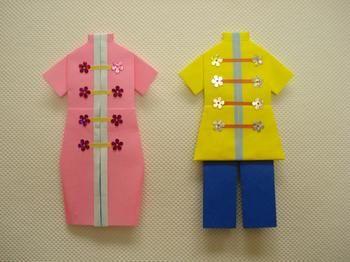 簡単 折り紙:ドレス 折り紙-jp.pinterest.com
