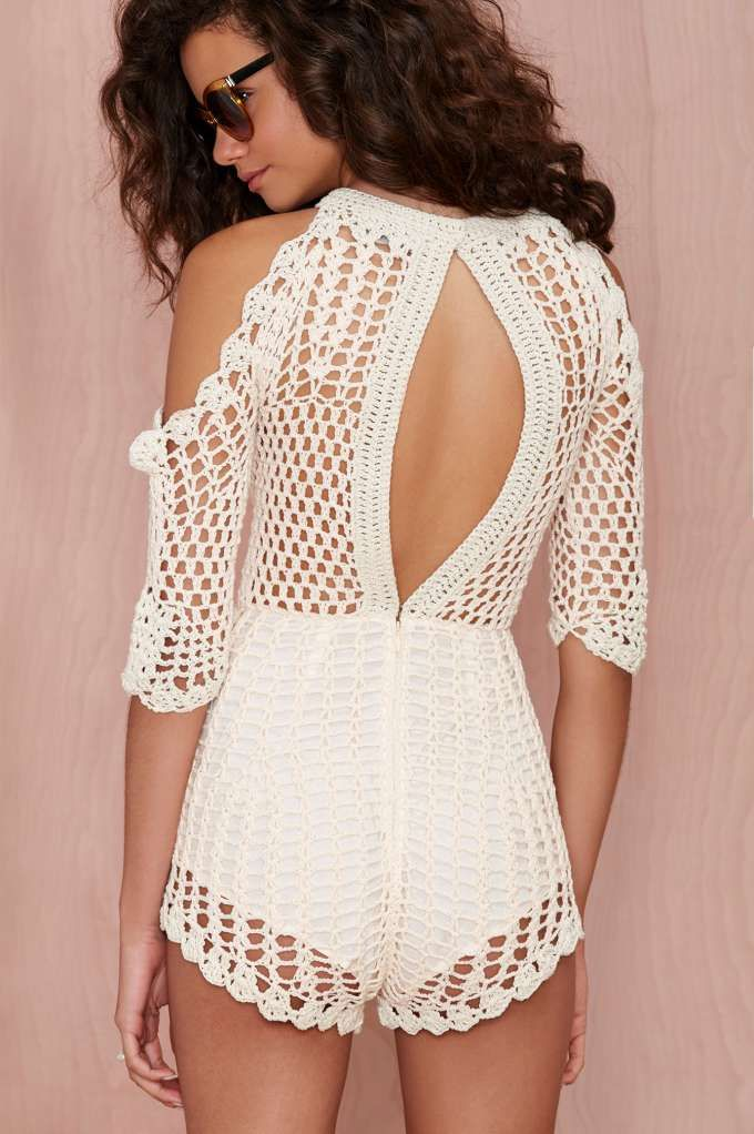 Alice McCall Hocus Pocus Crochet Romper - Rompers + Jumpsuits | Alice McCall | Alice McCall | Clothes | Shop All