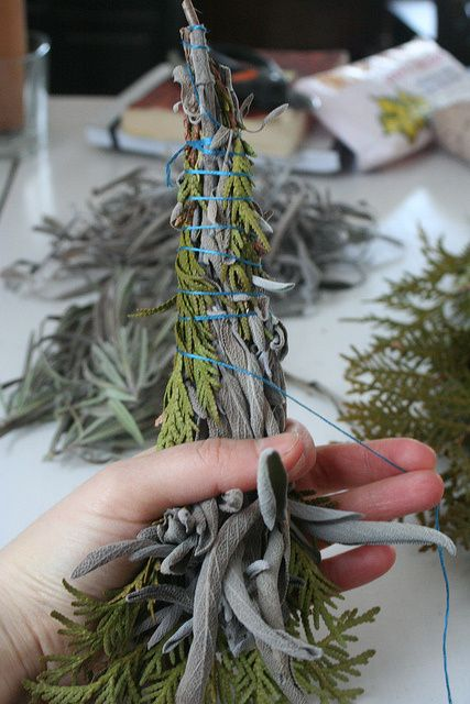 DIY tutorial on how to make your own sage bundles at home, great for all spells, rituals and magic!