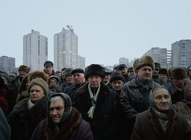 A Rally of the Opposition Candidate Alexander Milinkevich; Minsk, Belarus, 12 March 2006 - 2012 Prix Pictet winner Luc Delahaye