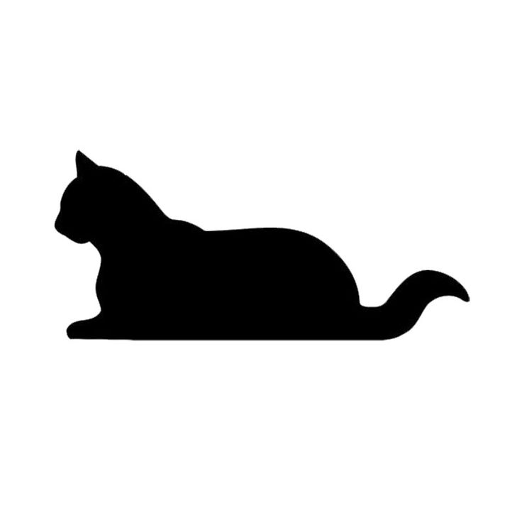 Car stying 15*7CM Sitting Cat Car Cover Scratches Animal Decals Lovely Cartoon Car Sticker 11 Colour Jdm