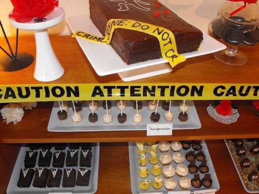 Crime Scene food table