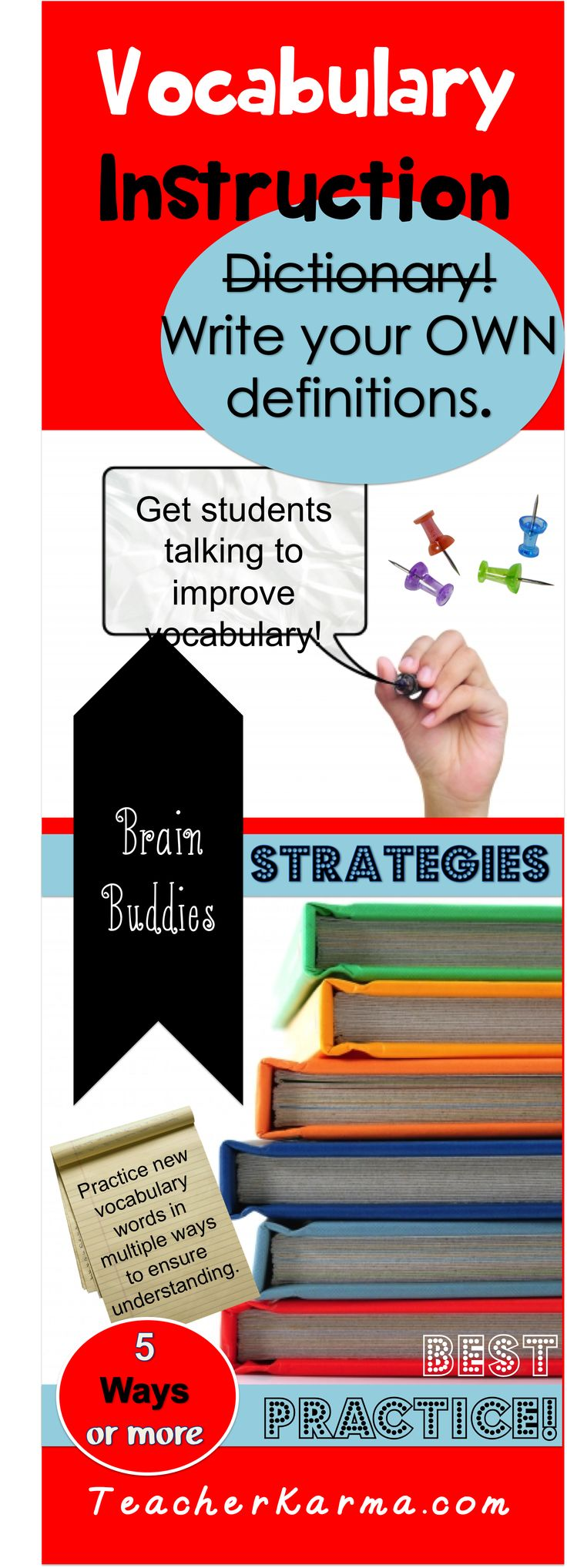 Vocabulary strategies for improving academic vocabulary.  Ways to partner talk and book buddies. #vocabulary #instruction