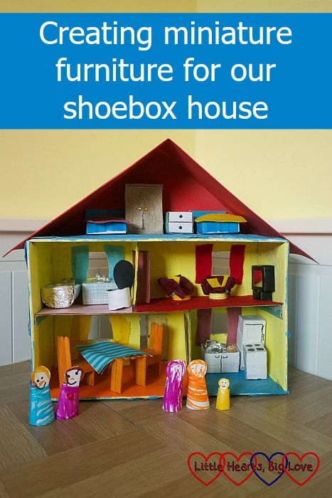Shoe Box Dollhouse Craft For Kids: Creating Miniature Furniture For Our Shoebox House