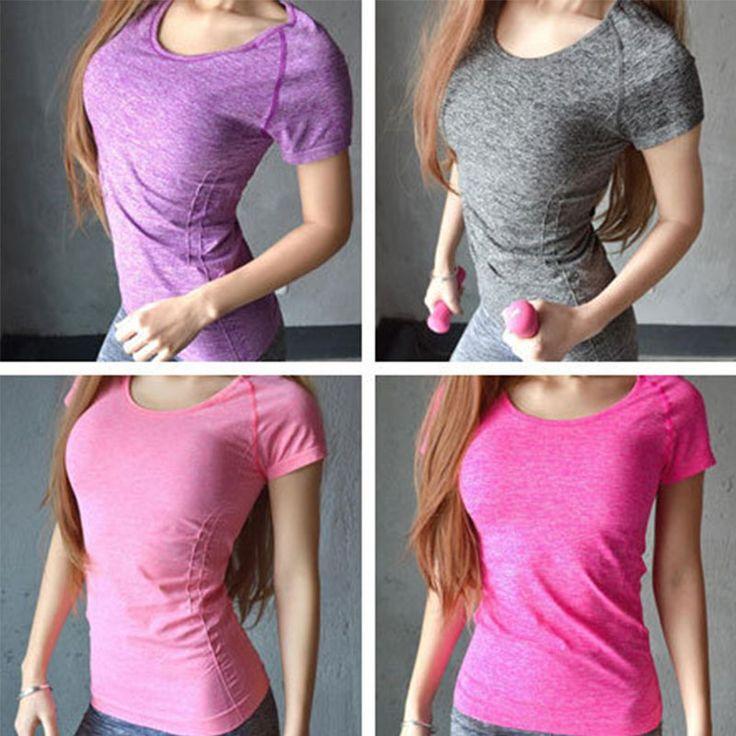 Aptitud de las mujeres juegos de los deportes de secado rápido tops tees mujer ropa de yoga run t-shirt camiseta para correr correr gimnasio bodybuilding ropa