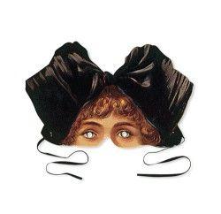 Victoriansk ansigtsmaske - pige fra Alsace med stor sort sløjfe