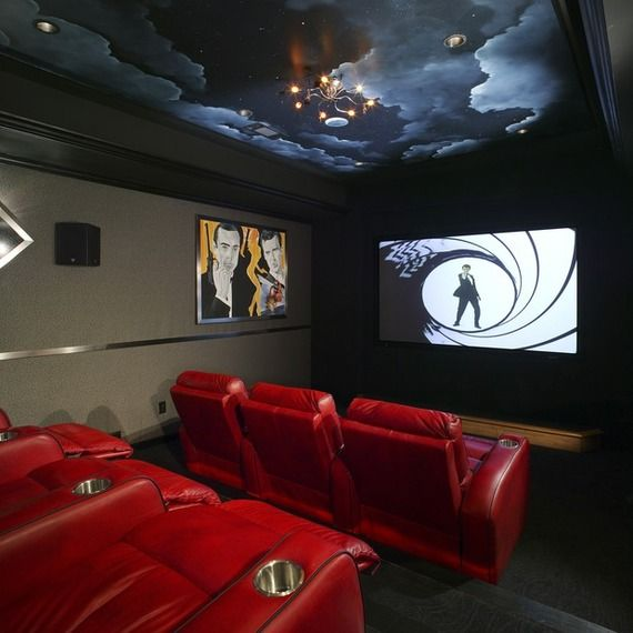 Home Theater Design I Love This Theater With The: 128 Best Images About Man Cave Ideas On Pinterest