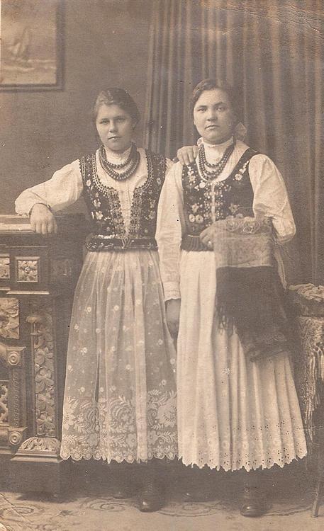 Regional costume of Krakow - Poland, early 1900s.
