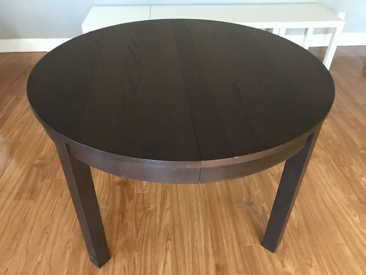 Ikea Bjursta Extendable Table Brown Black Table Ikea