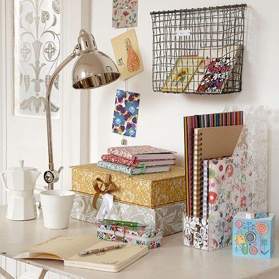 Papelería de oficina Inicio   Ideas de almacenamiento de oficina Inicio   Decoración   housetohome.co.uk