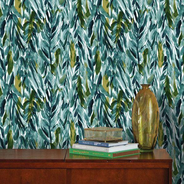 Removable Wallpaper Tropical Palm Leaf Banana Leaf Safari Etsy Nursery Wallpaper Nursery Baby Room Tropical Nursery