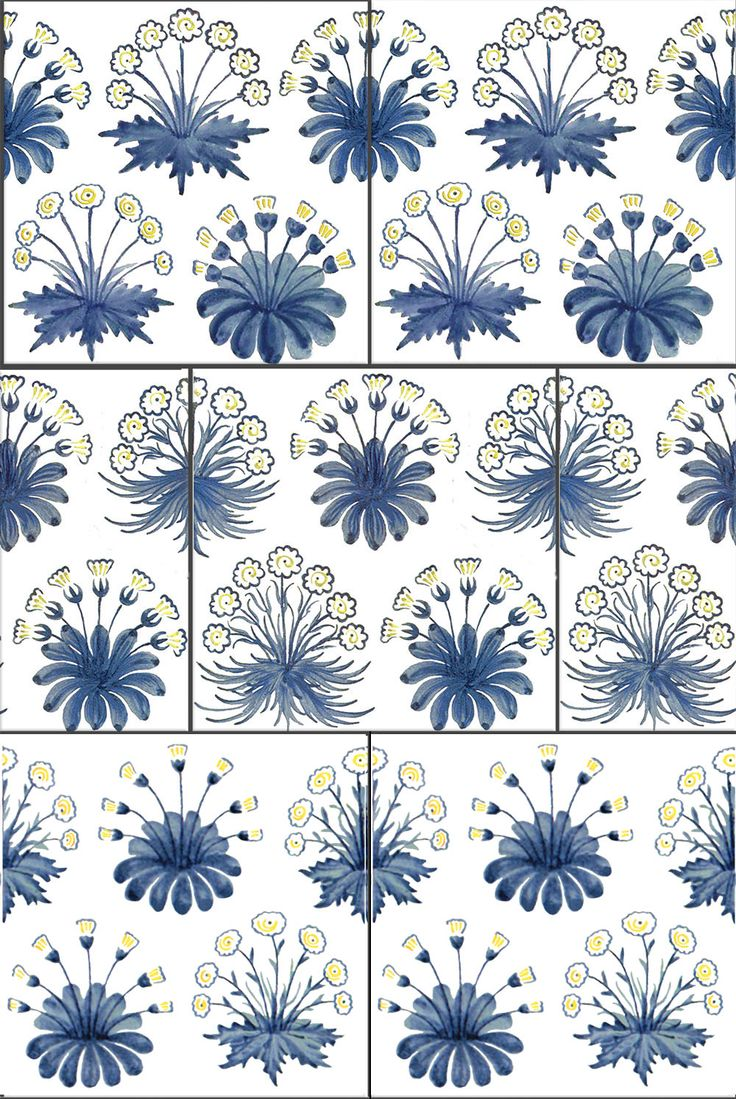 William Morris Daisy Tiles, 1860s-1882