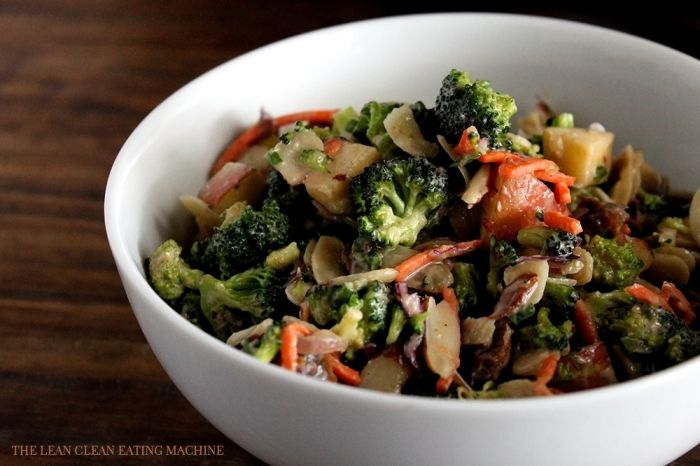 Chopped Broccoli Salad with Sweet Tahini Dressing