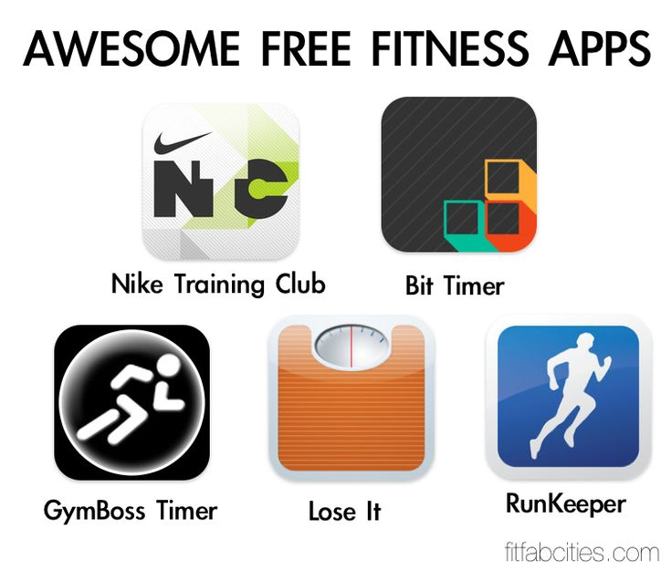 Awesome Free Fitness Apps Nike Training Club Bit Timer Gymboss Timer Lose  it Runkeeper
