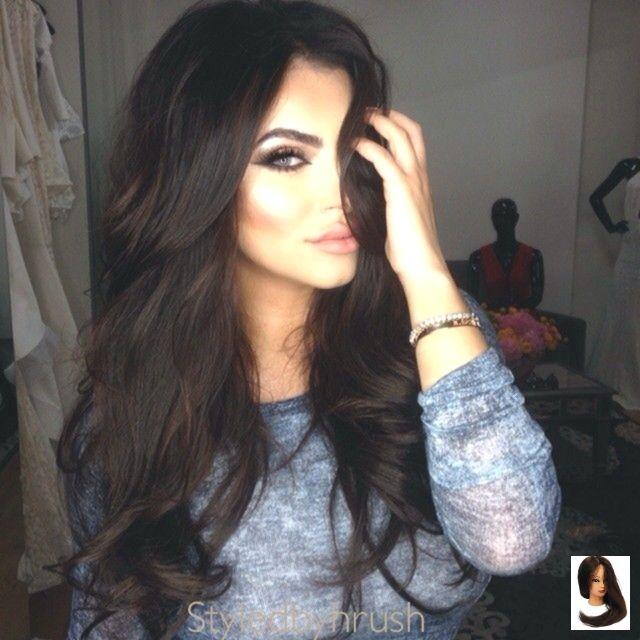 #Schwarzes #Schwarzes Haar mit Lowlights #Haar #Bild #Leuchten #Ergebnis Image re