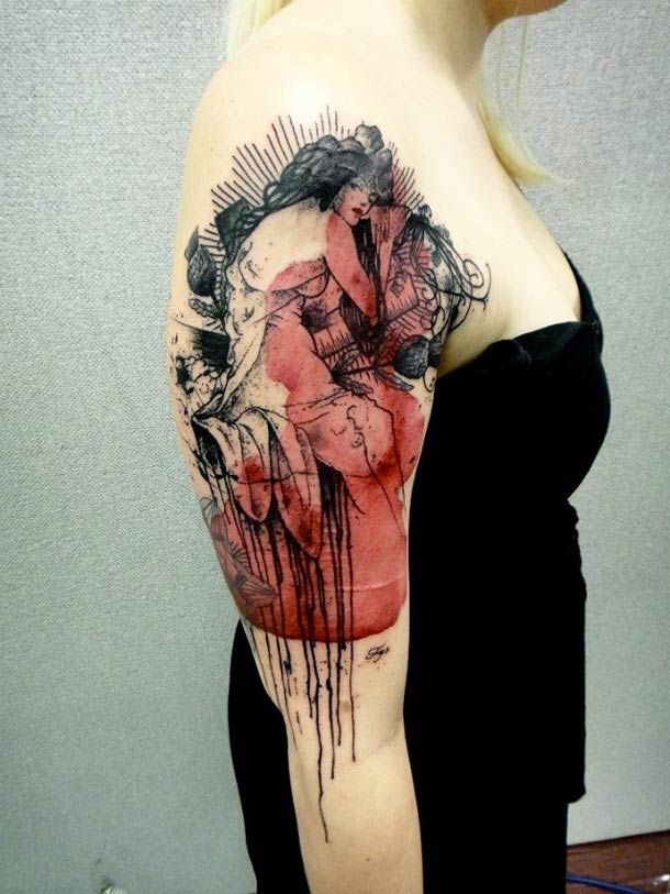 "Xoïl, aka Loïc, a talented tattoo artist created these works of art. He works in the ""Needles Side Tattoo Studio"" based in Thonon-les-Bains, France"
