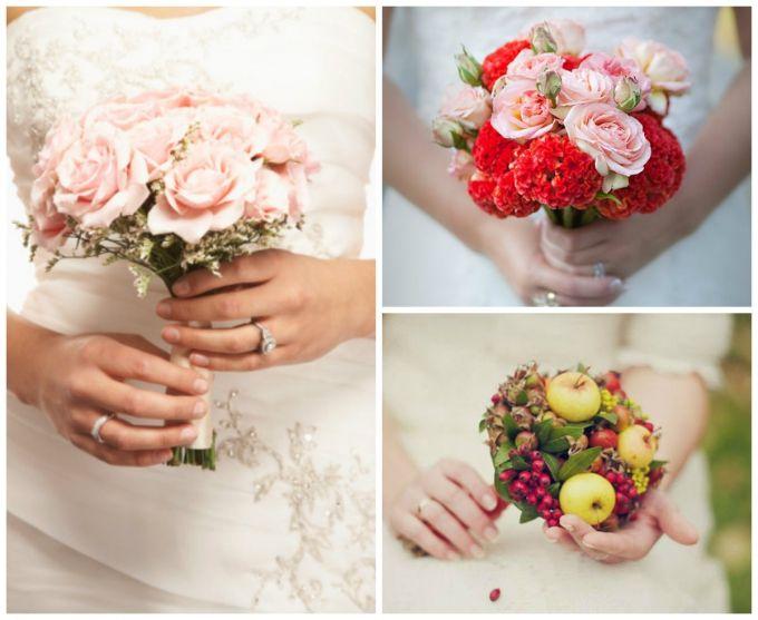 Маленькие свадебные букеты