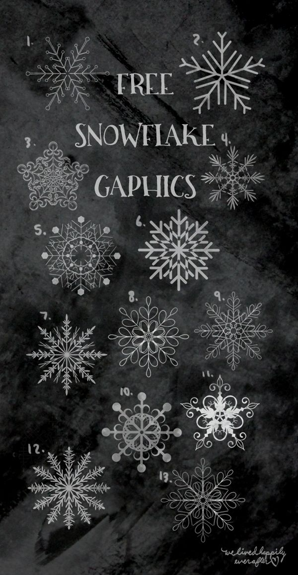 Snowflake Clip Art Freebies