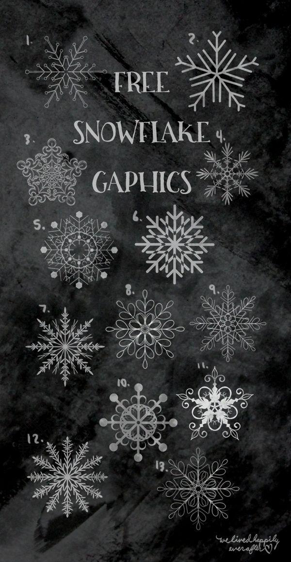 Snowflake Clip Art Freebies