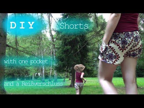 DIY Shorts: 1 Pocket - 1 Zipper (allmlle) - YouTube