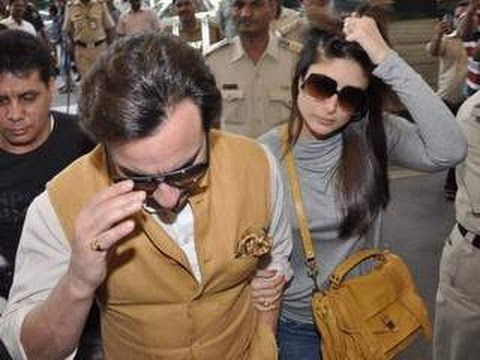 nice Saif Ali Khan & Kareena Kapoor SPOTTED at AIRPORT