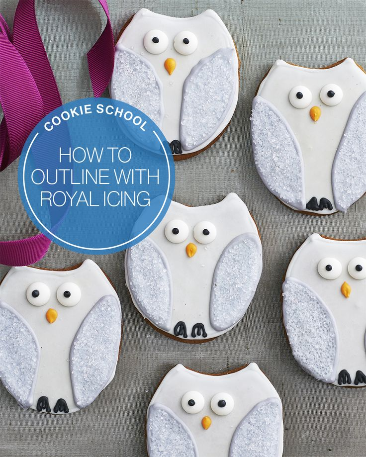 How to outline with royal icing