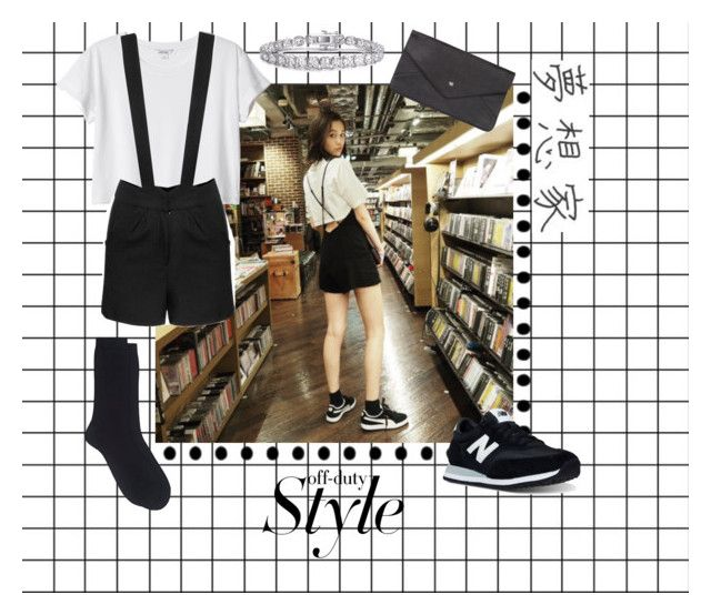 """Off Duty🌟"" by jaeim ❤ liked on Polyvore featuring Monki, Maria La Rosa, Double Oak Mills and New Balance"