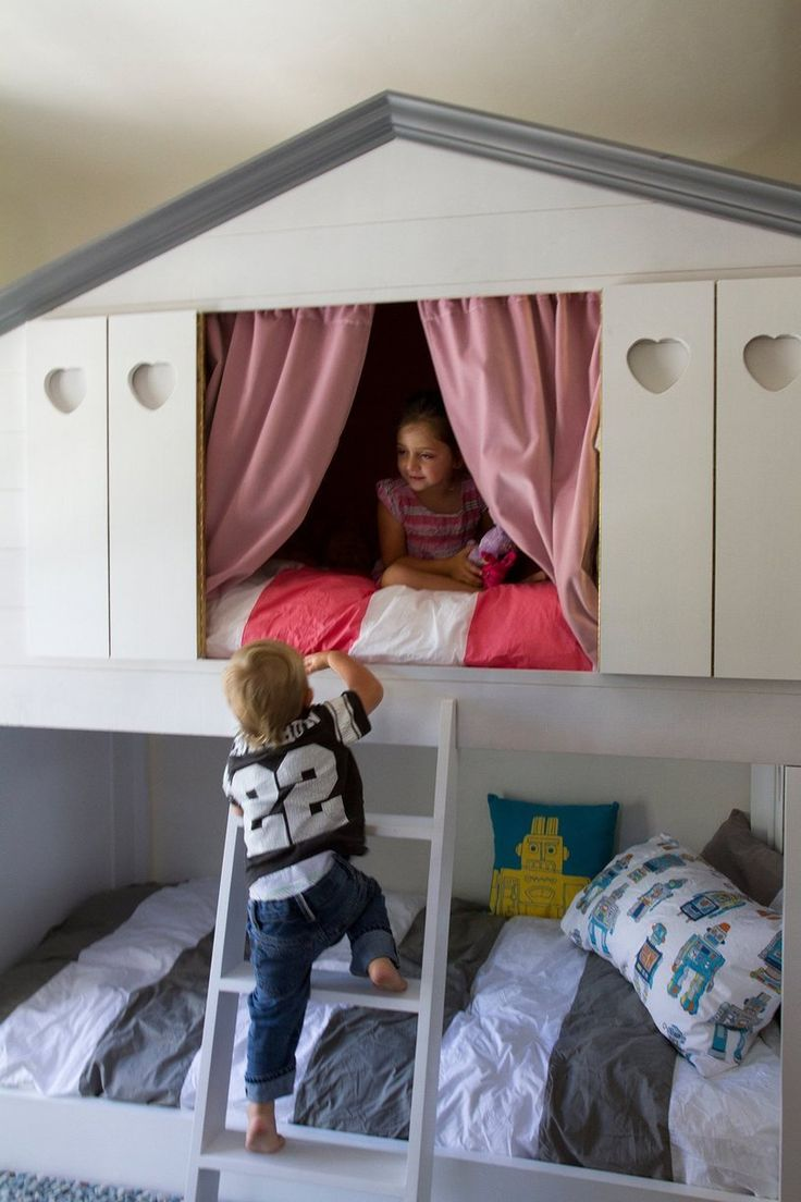 Boy and Girl sharing a room. I keep tossing this idea around. Mixed feelings. -- Victoria & Braden's Contemporary Family Home