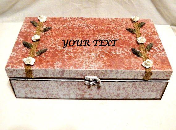 Caja Joyero Caja de Madera de la Boda Joyero de por Personalizedbox