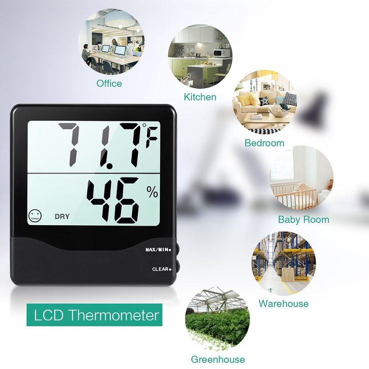 ORIA Digital Hygrometer Thermometer, Indoor Thermometer Humidity Monitor, Temperature Humidity Gauge Meter, with Comfort Indicators, MIN/MAX Records, ℃/℉ Switch, for Home, Office, Greenhouse, Babyroom. Temperature And Humidity – Measuring temperature at a scope of 32.0°F – 122.0°F(0.0-50.0°C). Determination of temperature: 0.1°C; Humidity – Showing you continuous stickiness show at a scope of: 10% – 99%RH; Resolution: 1%RH. Expansive Visible HD LCD Screen – Clear and evident show of...
