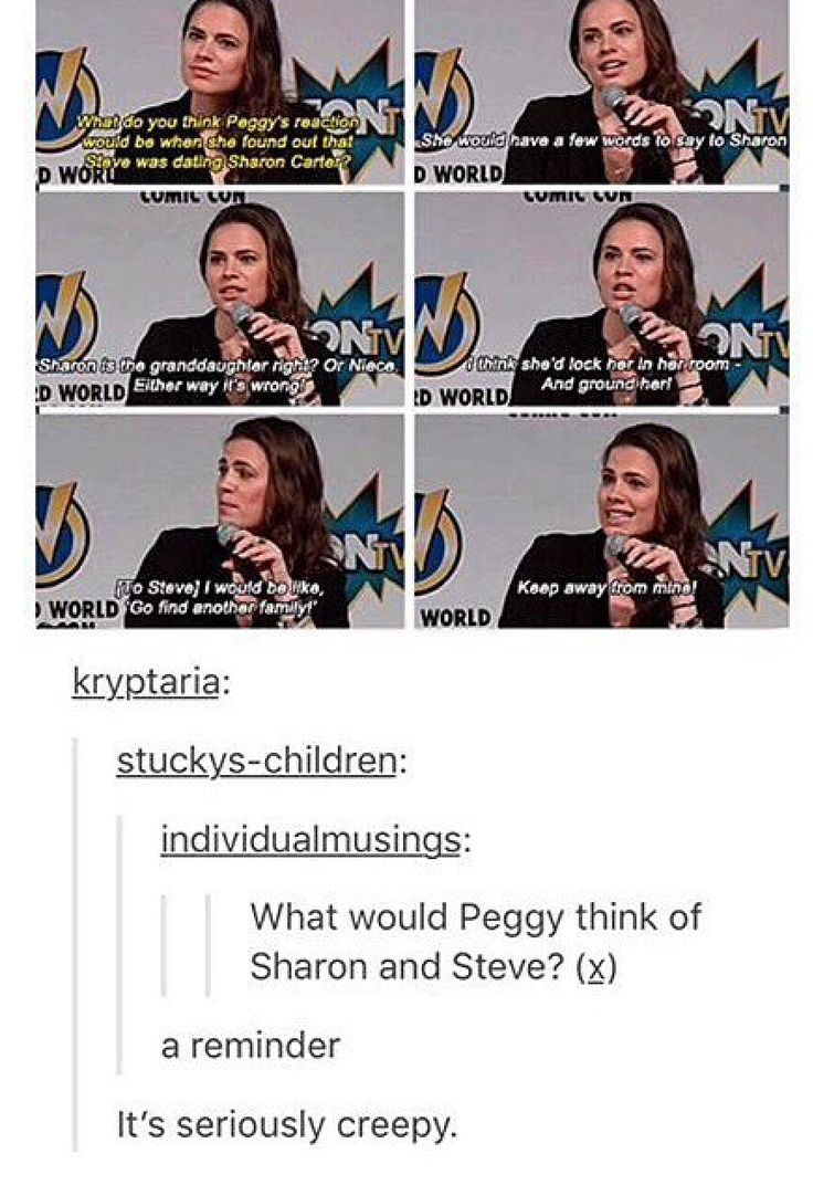 From the mouth of Agent Carter herself, everyone. Not to mention she's suppose to resemble Peggy a lot.