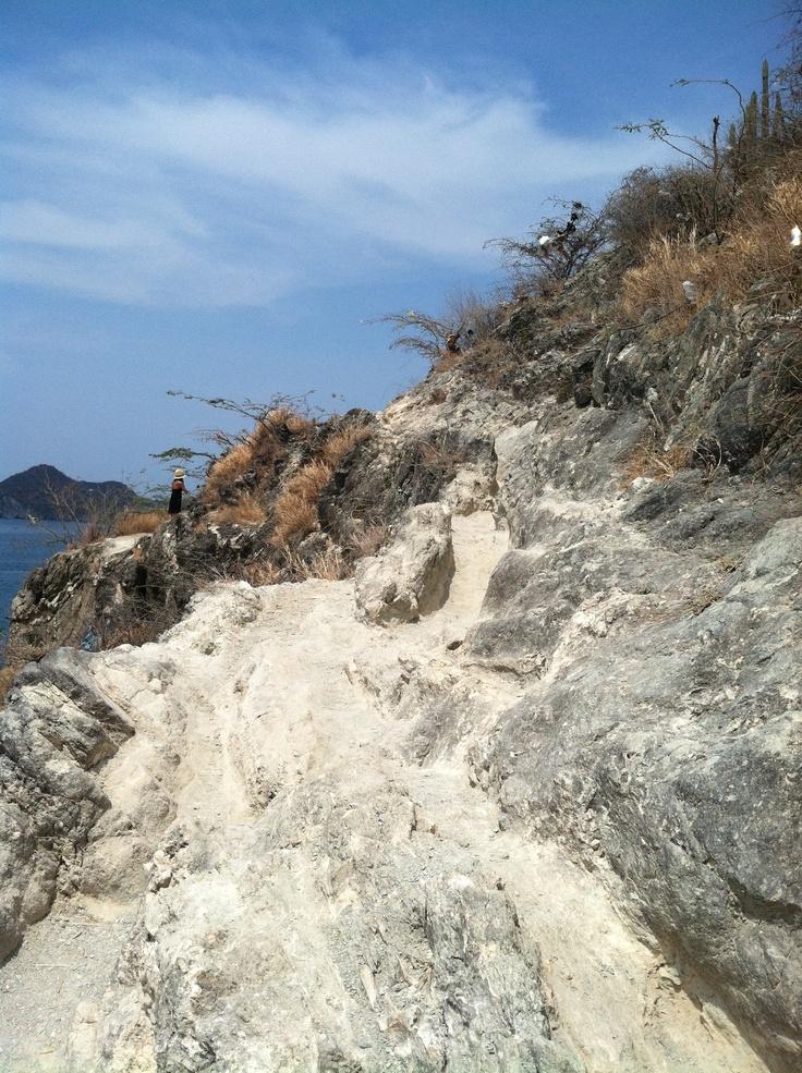 Climb your way to Playa Grande, 15 minutes from Taganga