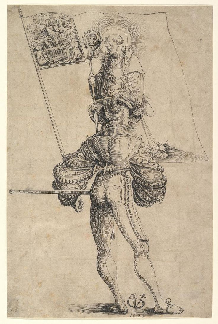 The Bearer of the Banner of the Canton Glarus by Urs Graf, 1521