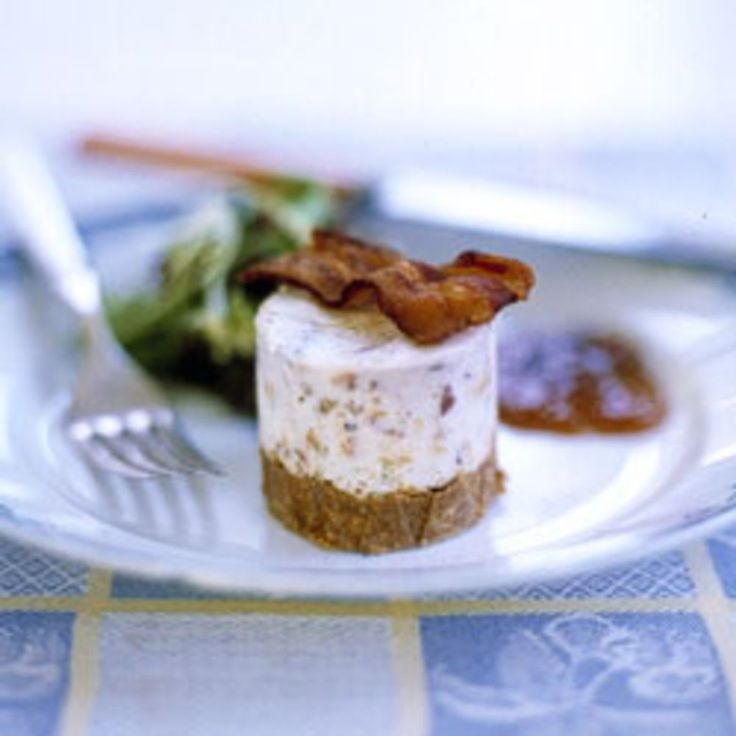 Smoky bacon combined with rich, pungent stilton makes these cheesecakes extraordinary.