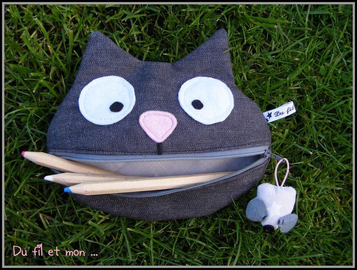 Du fil et mon...Couture facile Trousse chat